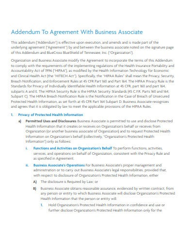 11+ Addendum Agreement Templates - PDF | Free & Premium