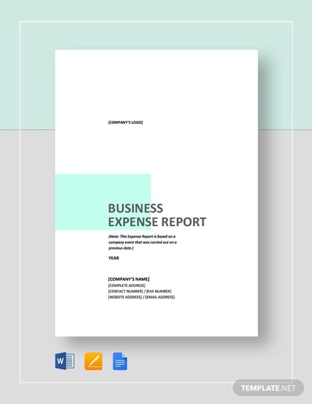business expense report template