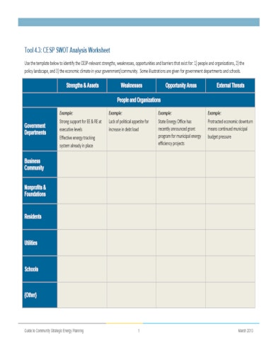 cesp project swot analysis template