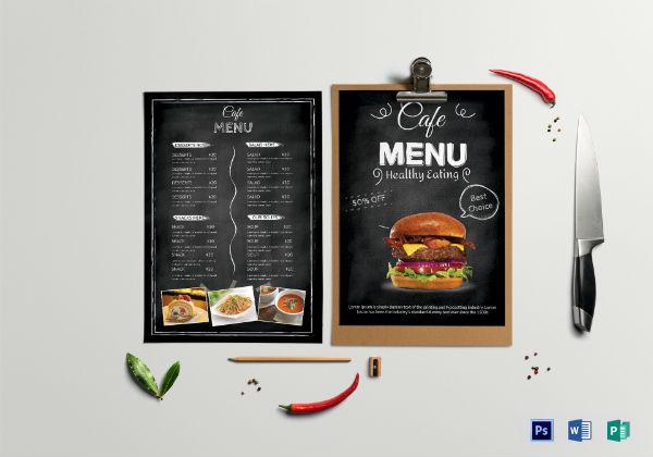 cafe menu template