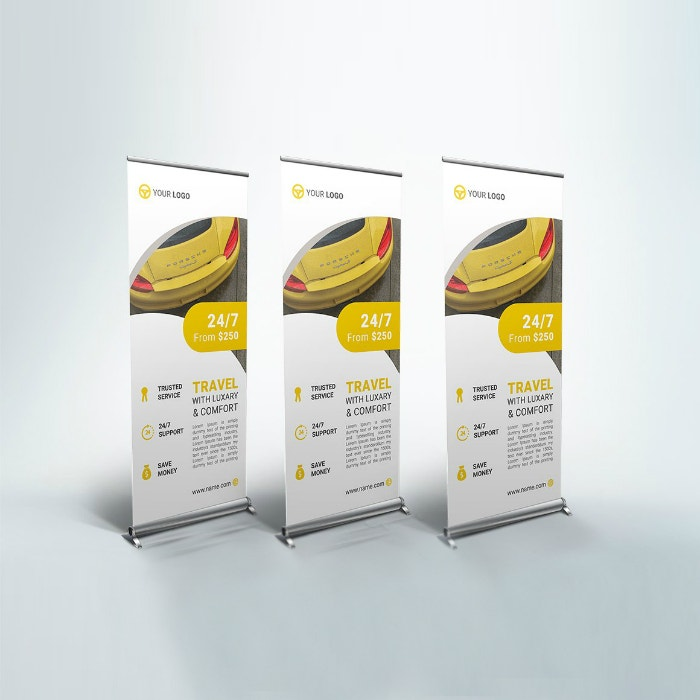 Car Rent Roll-Up Banner Sample