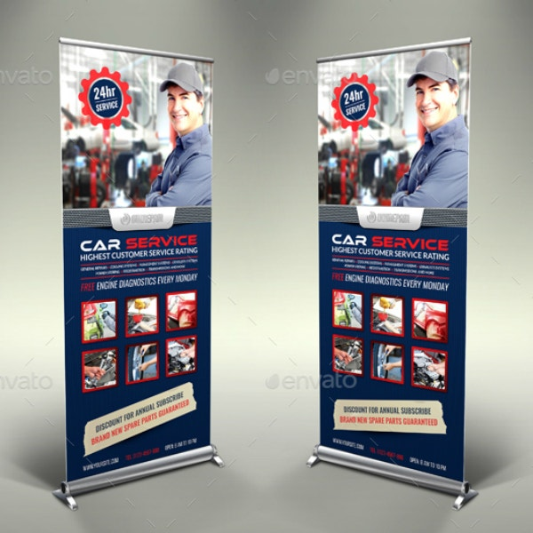 Car Services Roll-Up Banner Example