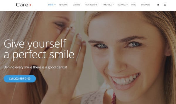 care – multiple browser compatible wordpress theme