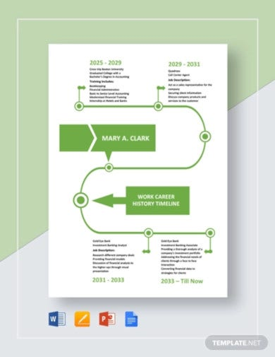 13+ Career Timeline Templates - Google Docs, PPT, PDF, DOC