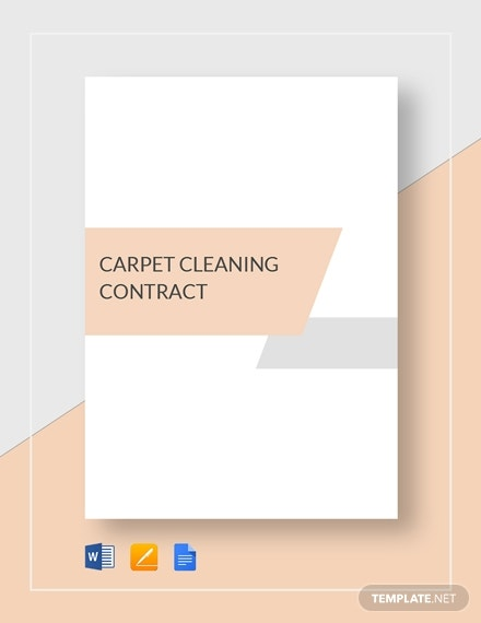 carpet cleaning business contract format