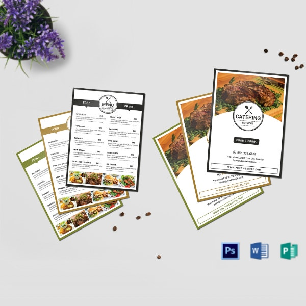 catering services food menu sample