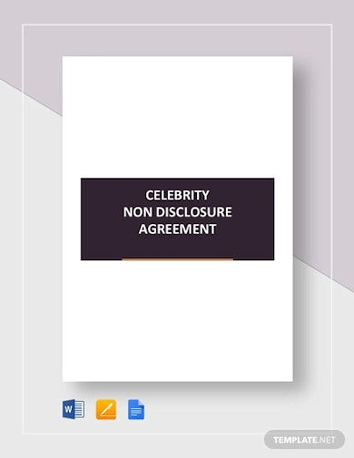 celebrity non disclosure agreement template