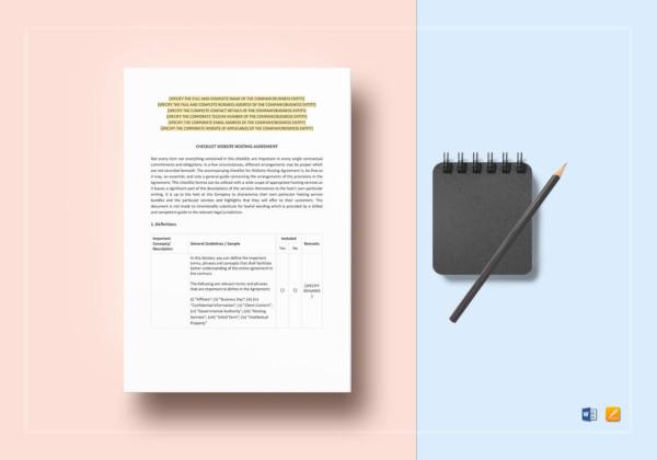 checklist-website-hosting-agreement-template