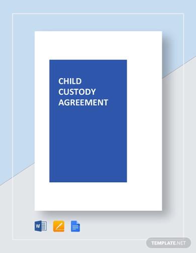 child custody agreement template1