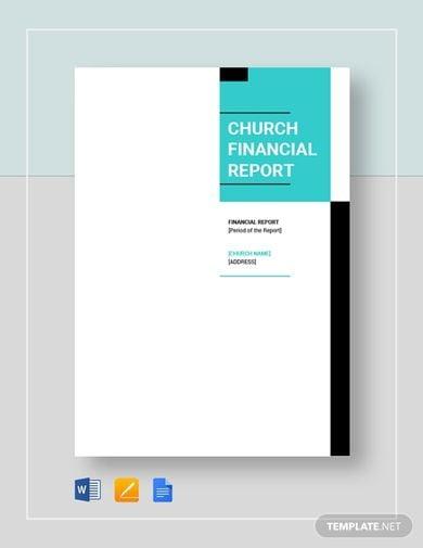 church financial report template1