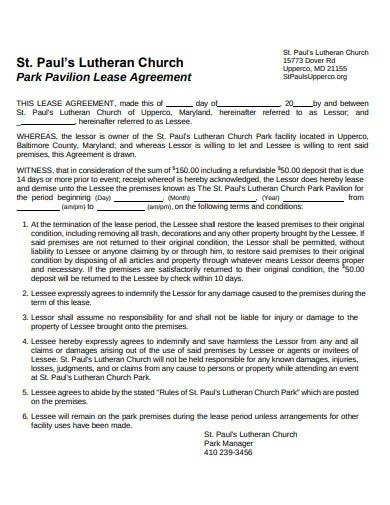 church lease agreement in pdf