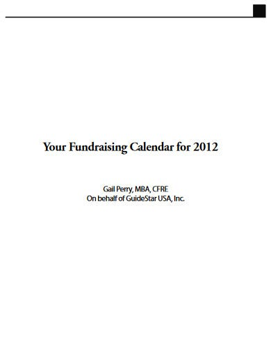 classic fundraising calendar