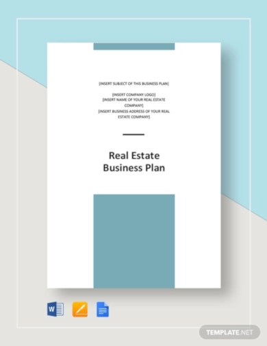 classic real estate business plan template