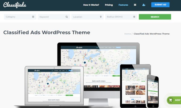 classifieds ads – custom wordpress theme