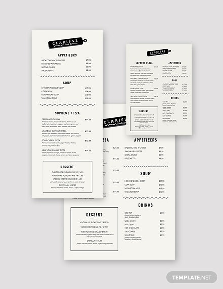 10  elegant menu templates