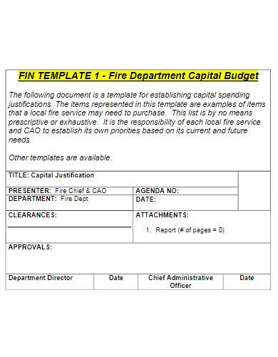 clean fire department capital budget