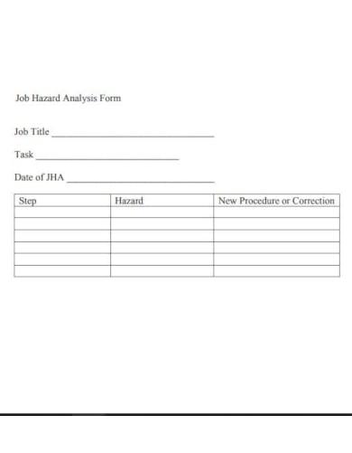 clean job hazard analysis template