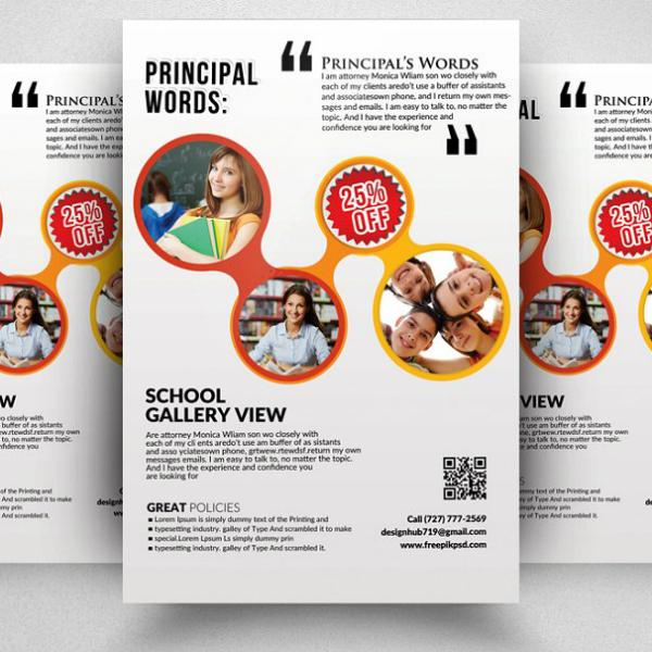 clean minimal kindergarten flyer format
