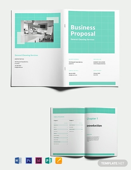 cleaning service business proposal format