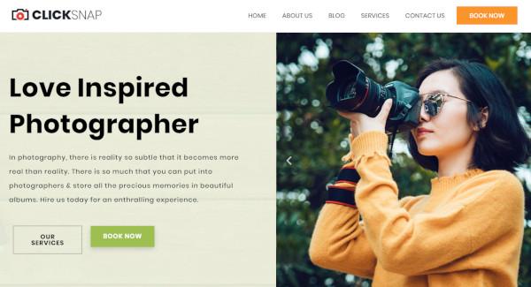 click snap mobile responsive wordpress theme