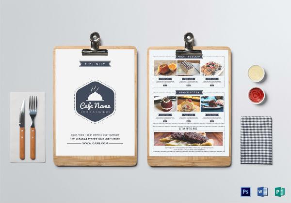 club cafe menu template1