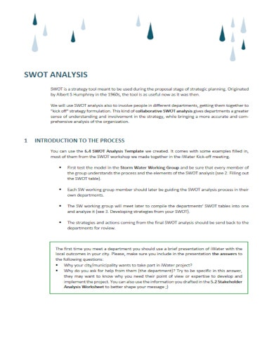collaborative hr swot analysis template