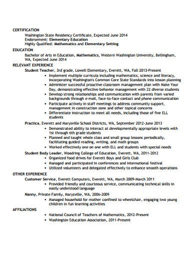 college appilication resume example