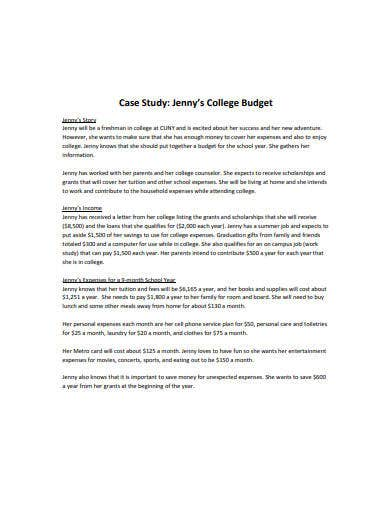 college budget template in pdf