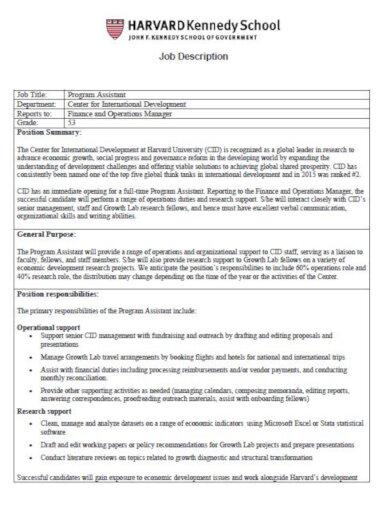 college campus recruitment job description