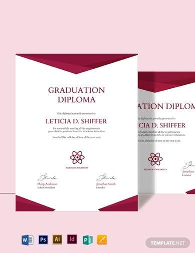 college diploma certificate template2