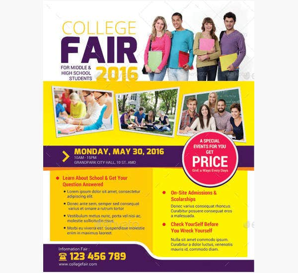 college fair flyer design