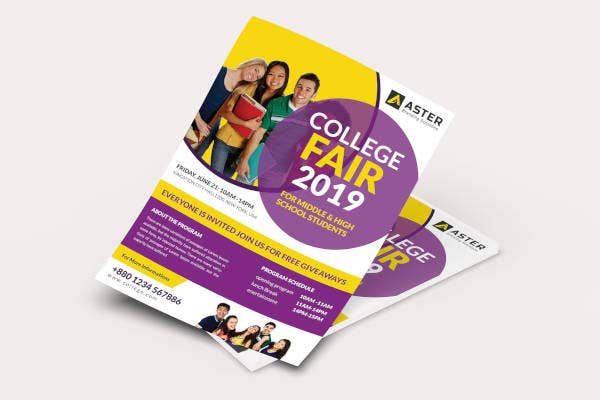 college fair flyer in ai