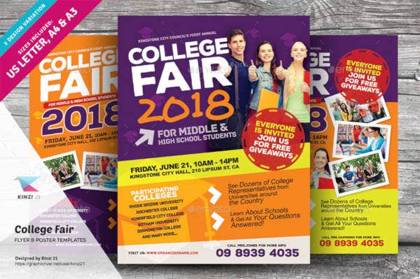 college fair flyer in psd
