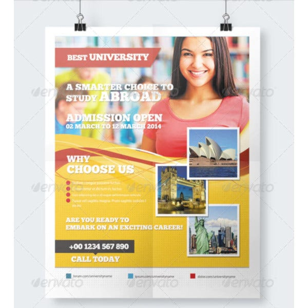 college flyer in vector eps