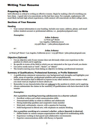 college graduate resume example1