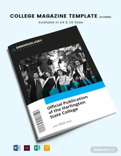 college magazine template1