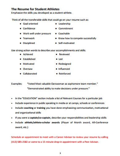 college student application resume template