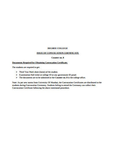 college student certificate example