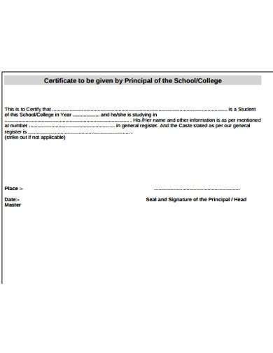 college student certificate template