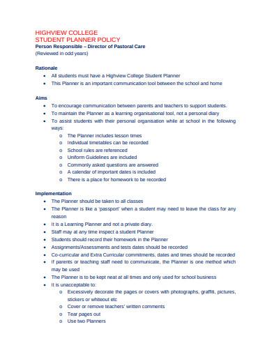 18+ College Planner Templates - PDF, Docs, Word | Free