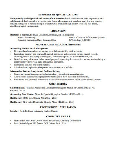 college student resume template in pdf