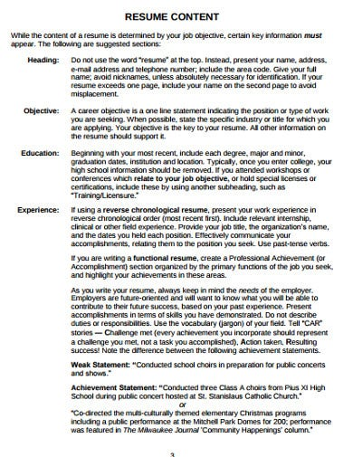 college student resume template