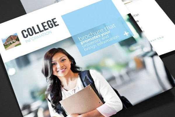 college trifold brochure