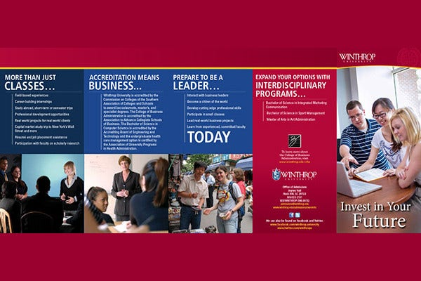 college of business brochure
