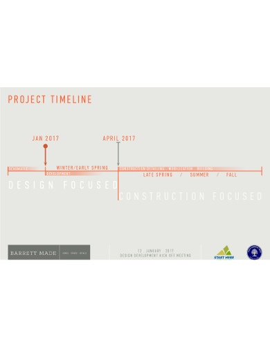 colored construction timeline template