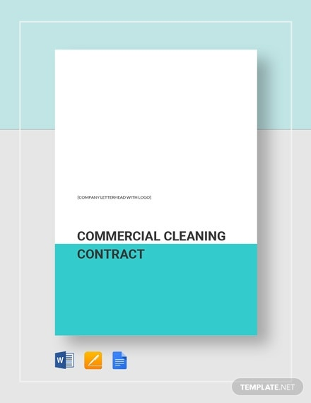 commercial cleaning business contract example