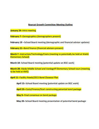 committee meeting outline template