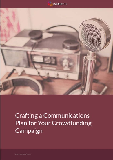 communications for crowdfunding campaign format