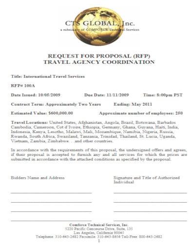 10+ Travel Agency Proposal Template - PDF, Word | Free & Premium