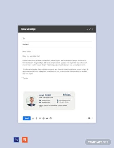 company ceo email signature template